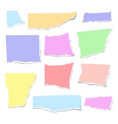 Set of isolated realistic colorful empty vector