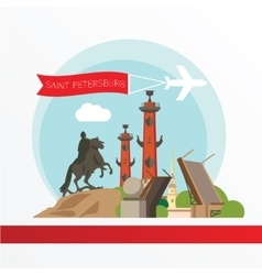 silhouette st petersburg vector image