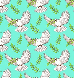 Sketch dove of peace vector image