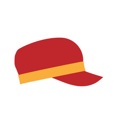 snap back hat modern clothes side view sports vector image