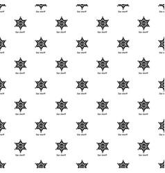 star sheriff pattern seamless vector image