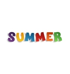 Summer hand drawn typeface vector image