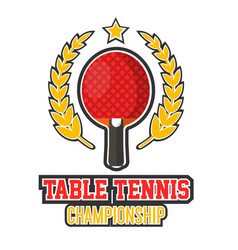 Table tennis championship logo vector