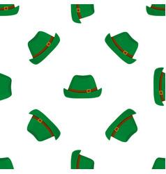 traditional german green vintage hat oktoberfest vector image