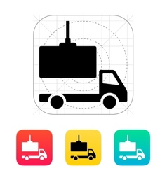 Truck loading icon vector