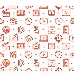 video play sign seamless pattern background vector image