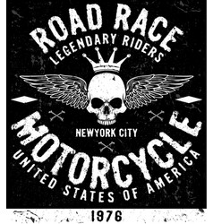 Vintage motorcycle t-shirt graphic vector