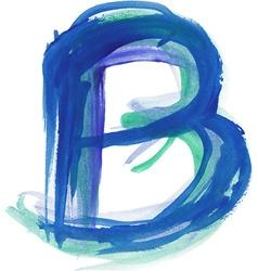 Watercolor Font LETTER B vector image