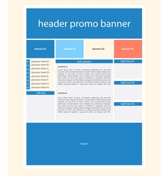 Website template layout with text vector image