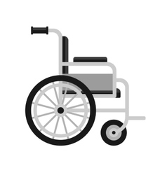 Wheelchair Medical Icon on White Background vector