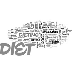 Which diet suits you best text word cloud concept vector