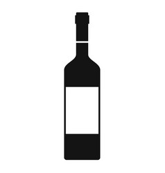 wine bottle icon simple style vector image