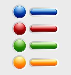 Colorful glossy buttons vector image