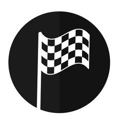 flag start racing shadow vector image
