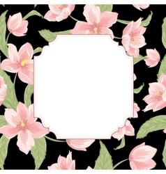 Hellbore christmas rose flower invitation card vector image vector image