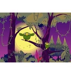 Owls at night vector image