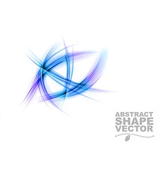 abstract shapes on white only blue vector image vector image