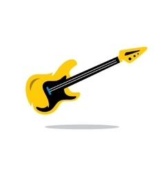Electric Guitar Cartoon vector image vector image