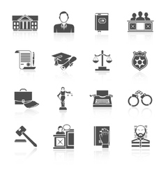 Law Icon Set vector image vector image