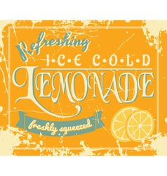 lemonade vintage label vector image