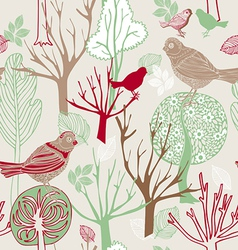 Retro abstract birds background vector image