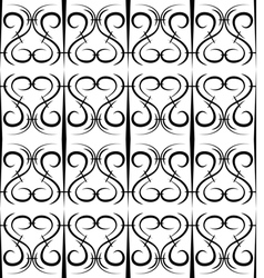 Seamless pattern in the form of forged lattice vector image