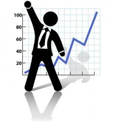 businessman raises vector image