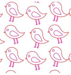 cute bird animal natural seamless pattern vector image vector image