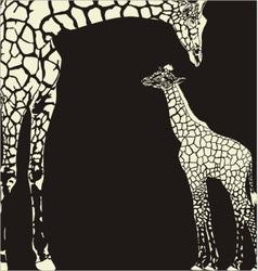 Inverse giraffe animal camouflage vector image