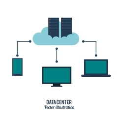 k icon Data center design graphic vector image