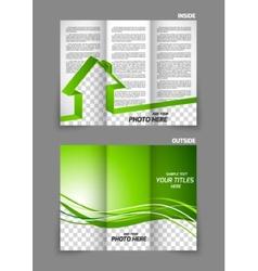 Real estate tri-fold brochure vector image vector image
