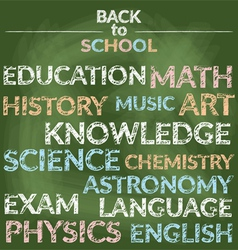 School Education Branch of Knowledge Words vector image vector image