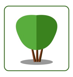 Shrub tree icon vector