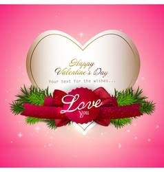 valentine gift card Design vector image