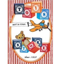 Vintage toys poster vector