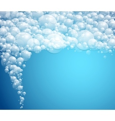 water bubbles background vector image vector image