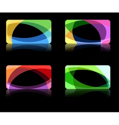 abstract wave backgrounds vector image