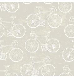 aged vintage bike pattern vector image