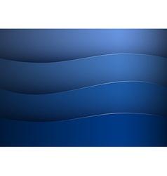 background blue stripe wave vector image vector image