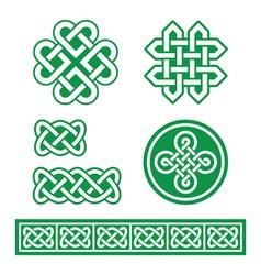 Celtic Irish patterns and braids St Patricks Day vector image