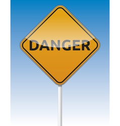 Danger traffic board vector image vector image