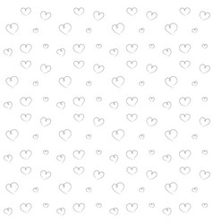hearts backdrop seamless pattern vector image vector image