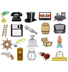 home related objects vector image vector image