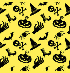 pattern halloween witch vector image