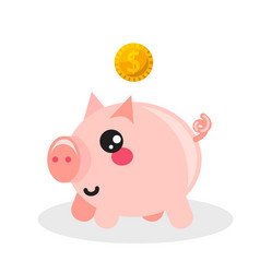 pig money box icon vector image vector image