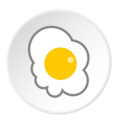 scrambled eggs icon flat style vector image