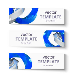 Abstract banner set for design vector