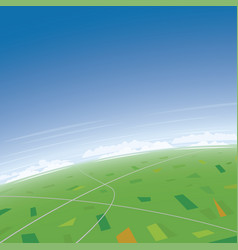 Aerial landscape and sunny day vector