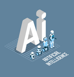ai concept isometric vector image