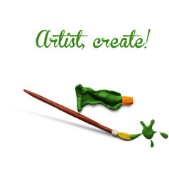 Artist poster vector image